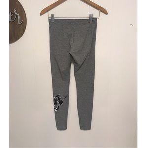 Nike grey leggings with camo swoosh cotton